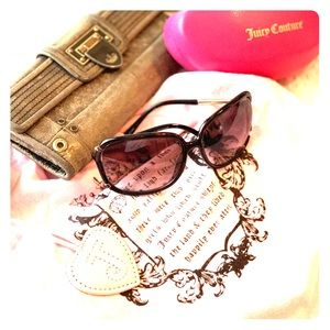Juicy Couture Brown & Gold Sunglasses!